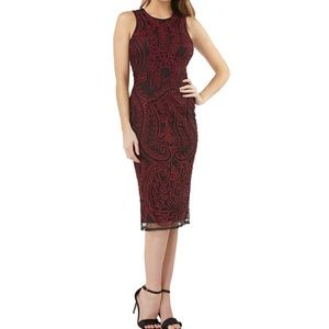 JS Collection l Embroidered Sheath Dress